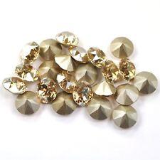 Golden Shadow Swarovski 39ss 1088 Crystal Xirius Chatons 12 Pieces