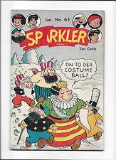 SPARKLER COMICS #63  [1947 VG-FN]  FIREWORKS/COSTUME BALL COVER!