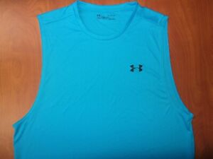 Under Armour Heat Gear Performance Tech 2.0 Training Sleeveless Shirt XL ~NEW~
