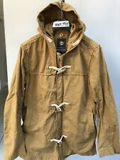 Mens Timberland Earthkeepers Parka Coat Cotton Army Khaki Hooded Jacket Size L
