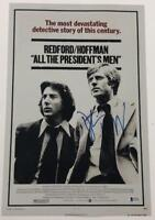 DUSTIN HOFFMAN SIGNED 12X18 PHOTO ALL THE PRESIDENT'S MEN AUTOGRAPH BECKETT COA
