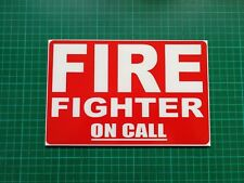 FIREFIGHTER ON CALL Dashcard Univisor Fire 999 Fire Engine Dash Card Retained