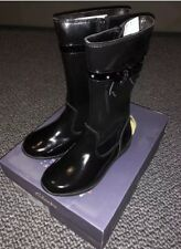 f5717565f BRAND NEW Clarks girls ting chic Patent Boots Black Size 10G Gloforms  Hidden Toy