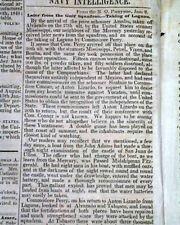 MEXICAN-AMERICAN WAR w/ Valentín Gómez Farías Address 1847 Wash. D.C. Newspaper