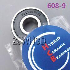 608-9 2RS Si3N4 Hybrid Ceramic Ball Bearing Rubber Sealed 9 x 22 x 7mm
