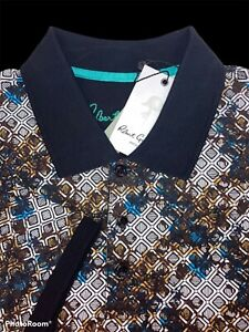 Robert Graham Size Medium Multi-Color Geometric Polo Shirt - $118 NWT