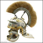 Medieval Helmet Greek Roman Centurion Helmet w/ Plume FREE LINER Chin Strap ~Bg