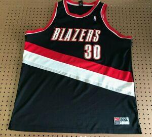MENS 3XL - Vtg NBA Portland Trail Blazers #30 Wallace Nike Sewn Jersey Korea