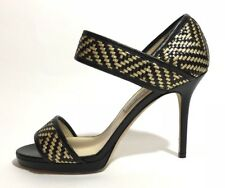 Jimmy Choo Women Shoes Size 40 New Heels Black And Gold