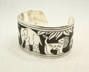 RARE | James Avery Sterling Silver Animal Cuff Bracelet 68.5 G