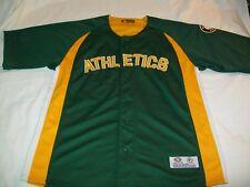 Oakland Athletics Green & Gold MLB Baseball Sewn Short Sleeve Jersey - Men Large