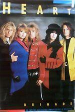 RARE HEART BRIGADE 1989 VINTAGE ORIGINAL MUSIC POSTER