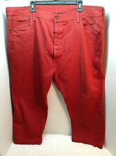 Levis 501 XX Mens Button Fly Red Jeans 46 x 30
