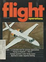 Flight Operations (Oct 1978) HUD & Approaches, Water Survival, Flying to England