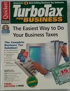 QUICKEN -Turbo Tax for Business New in Box 1996