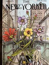 "THE NEW YORKER MAGAZINE-MARCH 22, 2021-LINIERS'S ""SPRINGING BACK""-BRAND NEW"