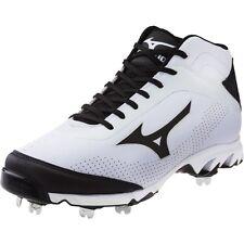 Mizuno 9 Spike Vapor Elite 7 Mid Metal Baseball Cleats NEW White Size 16 320442