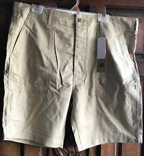 NWT Levis True Utility Shorts Twill 100% Cotton Beige Mens Size: 38