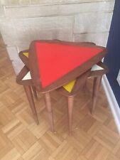Vintage Mid Century Modern Nesting Tables ARTHUR UMANOFF Triangle Raymor