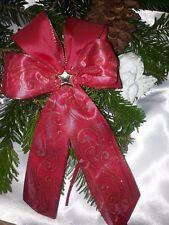 10 Weihnachtsschleifen,Christbaumschleifen rot ,Deko Weihnachten