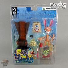 Ren and Stimpy Palisades Ren Hoek Action Figure Log Blammo 2004 Nickelodeon Toys