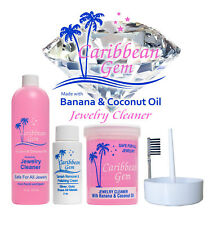 Caribbean Gem Banana & Coconut Oil Jewelry Cleaner Kit Solution Polishing Cream