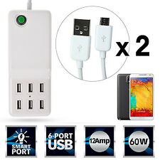 Universal 6Port Desktop USB Charger Smart Charging Technology for Samsung Galaxy