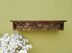 Hand Carved Wall Shelf