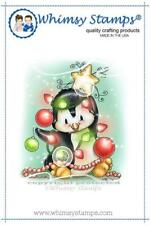 """Stempel """"Penguin Christmas Tree"""" Whimsy Stamps, Weihnachtsbaum, rubber stamp"""