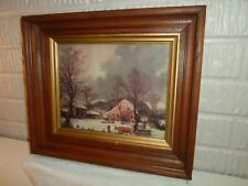 deep dish / shadow box  frame, print Currier & Ives Winter, 8 X 10 in. , # 882