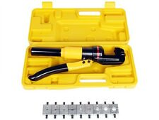 10-Ton Hydraulic Crimping Battery Cable Wire Crimper Lug Terminal Tool w/ 9 Dies