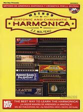 Méthode pour harmonica diatonique et chromatique musique Livre & CD
