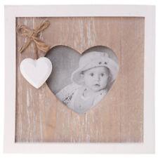 ferme - bois solide Cœur cadre photo - Marron/blanc zrjad053