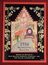 Beer Poster New Belgium Brewery ~ Brussels Style Black Ale 1554 Town Streets Art