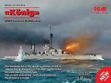 "ICM - S.014 - ""König"", WWI German Battleship - 1:700  *** NEW ***"