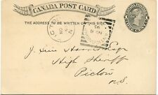 1895 ANTIGONISHE N.S. wrongly spelled Squared Circle Post card Canada