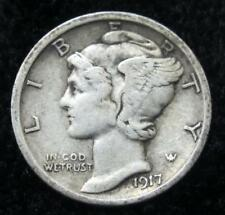 1917-S Mercury Dime * Better Grade * Full Clear Date and Mintmark * Book Quality