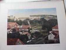 Guyane Francaise/Gravure 19°in folio couleur/ Ville de Cayenne (place d'Armes)
