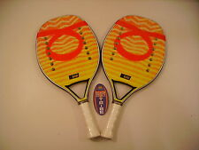 LOTTO COPPIA RACCHETTE BEACH TENNIS RACKET TOM CARUSO BURN IDEA REGALO