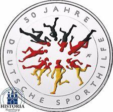 Deutschland 20 Euro Silbermünze 2017 bfr 50 Jahre deutsche Sporthilfe in Farbe