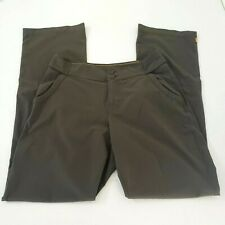 Lucy Womens 6 Pants Stretch Green Exercise Outdoor Hiking Pockets