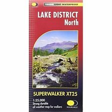 Lake District North XT25 by Harvey Map Services Ltd (Sheet map, folded, 2015)