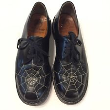 VTG Tredair Made in England Oxfords Black Spider Web 3-eye Leather US 9 Mens
