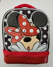 Disney Minnie Mouse School Lunch Bag Dual Compartment Insulated NEW
