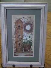 "Kohl's Birdhouse Print/Light Wood Frame & Mat/7.25' x 10.5"""