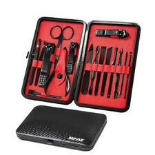 Mens Manicure Set - Mifine 16 In 1 Stainless Steel Professional Pedicure Kit.