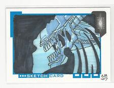 AVP Alien vs Predator Requium 2007 Inkworks Sketch Card by Chris Moreno /300