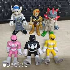 Lot 6 Imaginext Power Rangers Pink Yellow Black Scorpina Pirantishead Finster