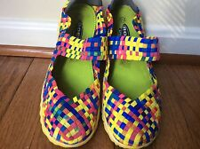 Rock Spring Bright Pink Blue and Yellow  Slip on Women's Shoes-  Euro Size 38