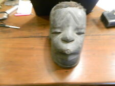 antique African carved wooden head / mask